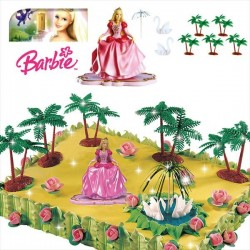 Kit Barbie Princess PVC 7cm