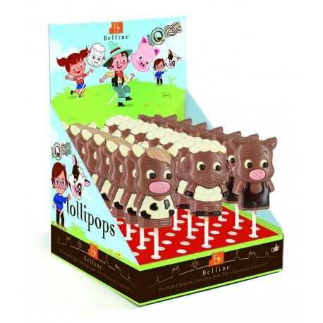 Lollipop Farm Animals Cow Lola & Sheep Lenny & Pig Leo (162 mm)