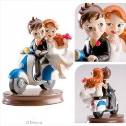 Wedding Couple Motorniking 15 cm