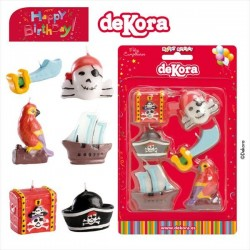 Pirate World Birthday Candle 3-5 cm
