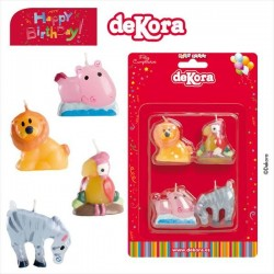 Zoo Animals World Birthday Candle 3,5-4 cm