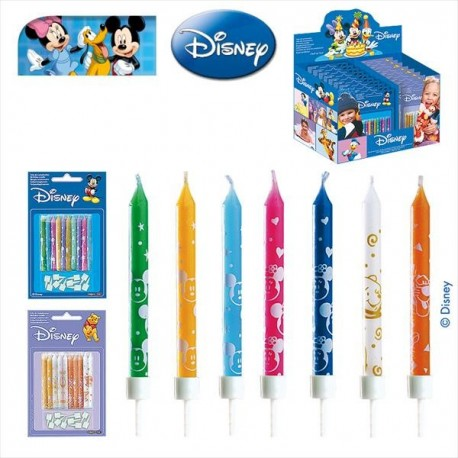 Disney Birthday Candles in Stick Display 6,5 cm