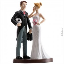 Wedding Couple Football 18 cm
