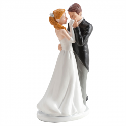 Weddin Couple Kissing Hand Resin 16 cm