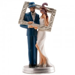 Wedding Couple Photo Frame 18cm